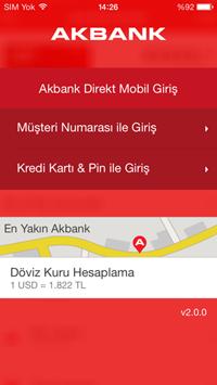 Akbank Direk Mobil - Login