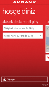 Akbank Direkt Mobil Windows Phone
