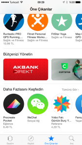 Apple Watch için AppStore